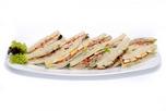 Háromszög szendvics tál
