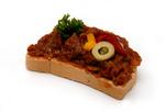 Ajvár krémes szendvics