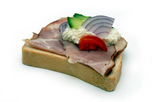 Füstölt főtt tarjás szendvics