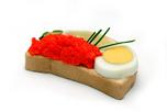 Vörös kaviáros szendvics